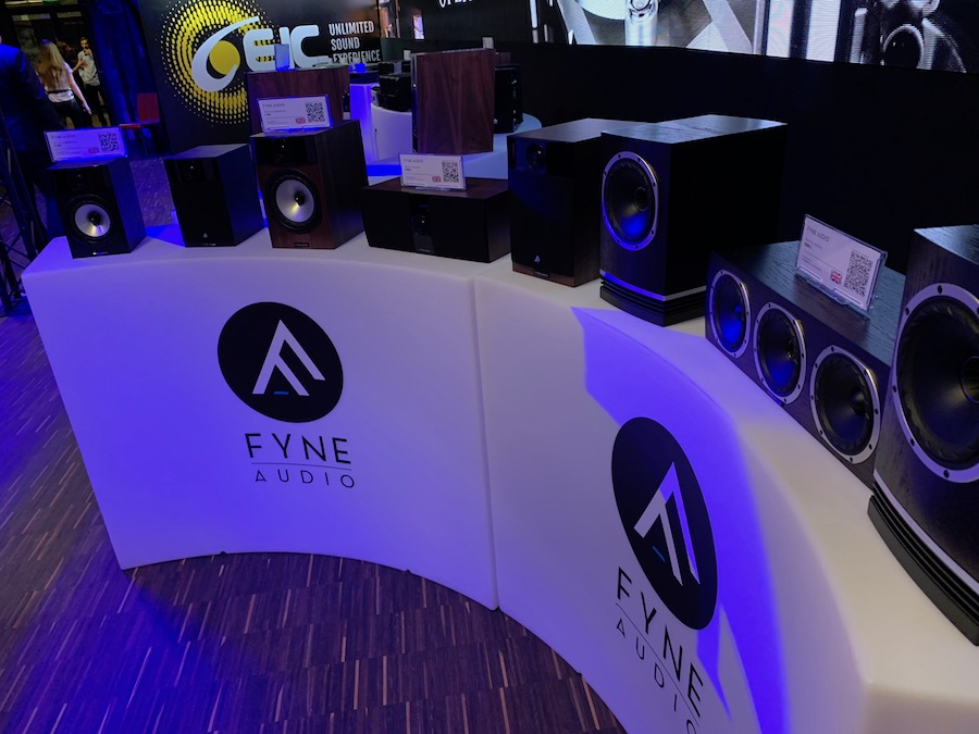 Some of Fyne Audio`s loudspeaker range