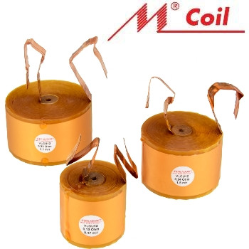 Mundorf VLCU range of copper foil in wax inductors