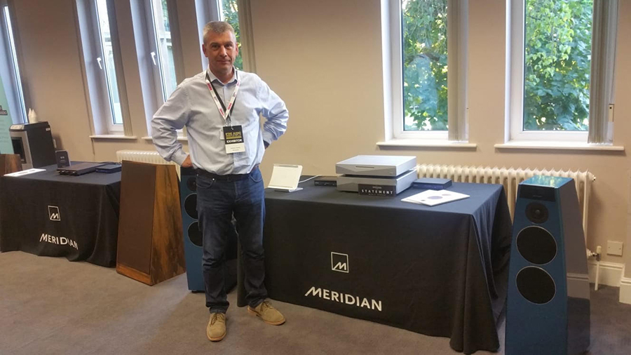 Matthew Delaney of Meridian, showing new and vintage syatems