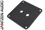 012-0101 Jantzen Binding post plate, black powder coat, 2 holes