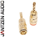 012-0130 Jantzen Banana BFA Plug, grub screw type, Gold plated