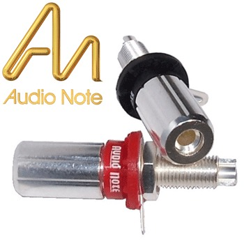 CON-030AG Audio Note Meishu Silver Plated Speaker Terminals (red)