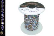 CARDAS 4 x 33 AWG Tonearm wire WITHOUT shield (50cm)