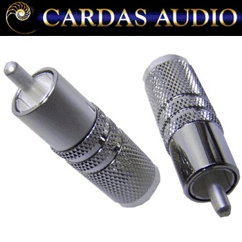 Cardas SLVR male RCA plug, silver plated (1 off)