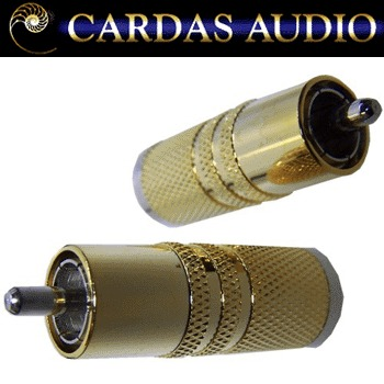 Cardas SRCA SS male plug, rhodium over silver plate