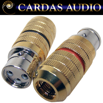 Cardas XLR female plug, CG F XLR - Black