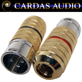 Cardas XLR male plug, CG M XLR - Black