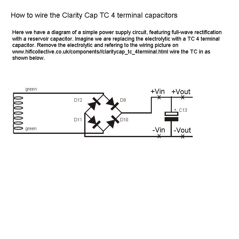Claritycap TC, 4 Terminal PSU Capacitors   Hifi Collective