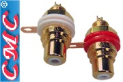 CMC-803-F, Gold plated RCA socket