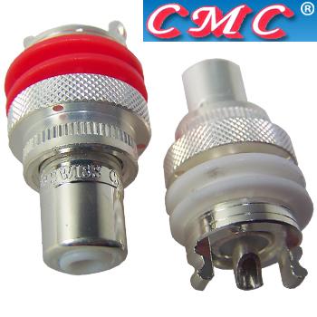 CMC-805-2.5CUR-AG Copper, thick silver plate RCAs (pair)