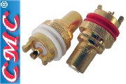 CMC copper RCA sockets, gold plated (pair) CMC-805-2.5CUR-G