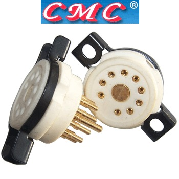 CMC Ceramic B9A Chassis mount base (1 off)