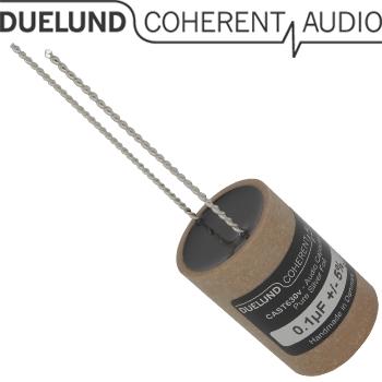 CASTDCAG-011: 0.1uF 630Vdc Duelund CAST DC Silver Capacitor