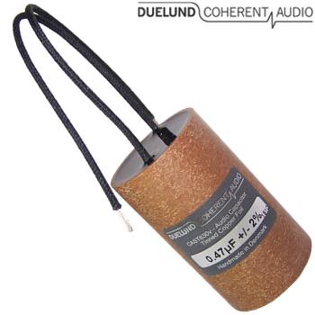 CuSn630V-040: 0.47uF 630Vdc Duelund CAST PIO Tinned Copper Capacitors