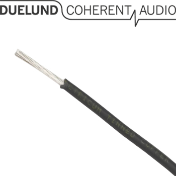 Duelund DCA16GA 600Vdc tinned copper multistrand wire in Polycast sleeving (1m)