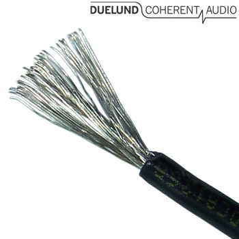 Duelund DCA12GA 600Vdc tinned copper multistrand wire in Polycast sleeving (1m)