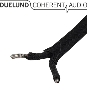 Duelund DUAL DCA16GA tinned copper multistrand wire in cotton and oil (1m)