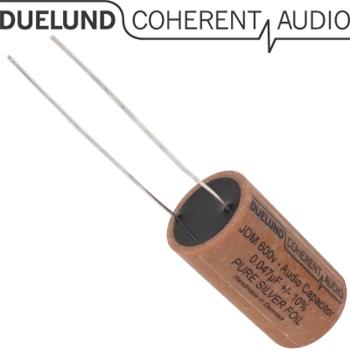 JDM-AG-040: 0.047uF 600Vdc Duelund JDM Silver Foil Capacitor