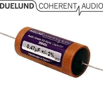 RSM-010: 0.47uF 200Vdc Duelund RS Mylar Capacitors