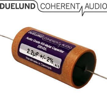 RSM-030: 2.2uF 200Vdc Duelund RS Mylar Capacitors