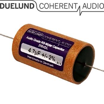 RSM-070: 4.7uF 200Vdc Duelund RS Mylar Capacitors