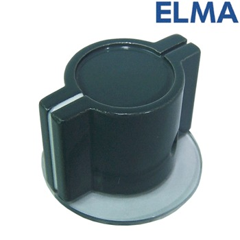 Elma - Marconi Classic British wing knob with skirt - GREY