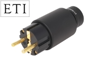 ETI Research Legato Schuko AC Connector, Gold Plated