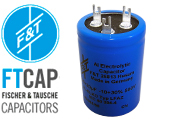 F&T Electrolytic Type LFAZ Dual Section Radial Capacitors