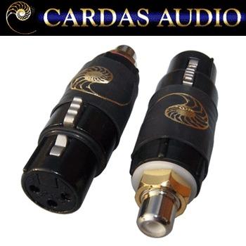 FRCA-FXLR: Cardas female XLR to female RCA adapter (pair)