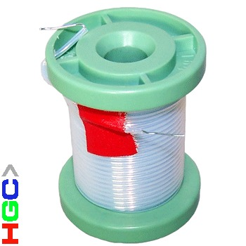 HGC pure silver 0.5mm dia wire (1 metre) sheathed