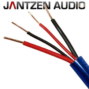 006-0085: Jantzen Bi-wire Speaker Cable, 2 x AWG 17 + 2 x AWG 20, 1 metre