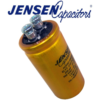 JES-030- 220uF 500V Jensen Radial Electrolytic Capacitor