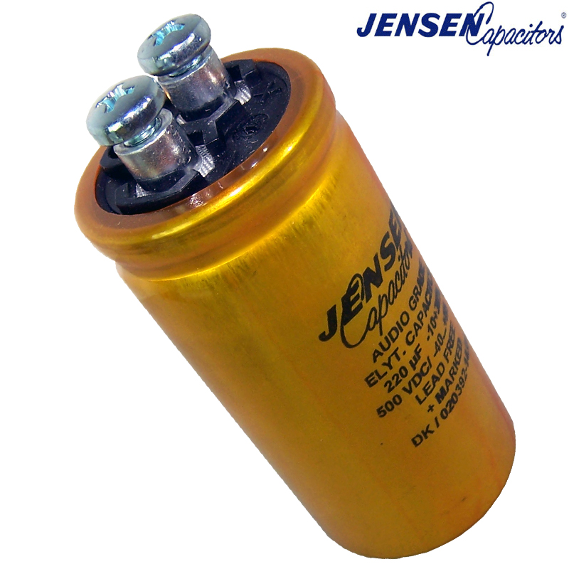 jensen radial electrolytic capacitors screw terminal hifi large picture of 220uf 500v