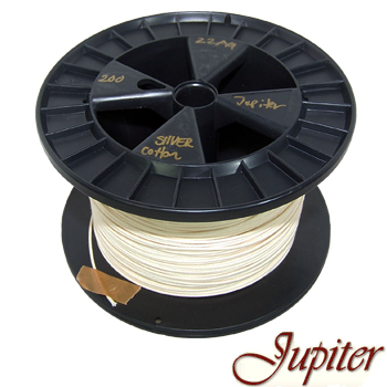 Jupiter AWG 22, Pure Silver 4N cotton insulated wire (0.65mm)