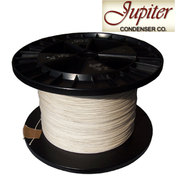 Jupiter AWG 28, Pure Silver 4N cotton insulated wire (0.32mm)