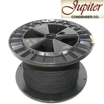 Jupiter AWG 26, Pure Silver in black silk insulated wire (0.405mm)