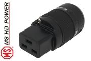 MS HD Power MSC19RRh C19 IEC Plug, Rhodium plated