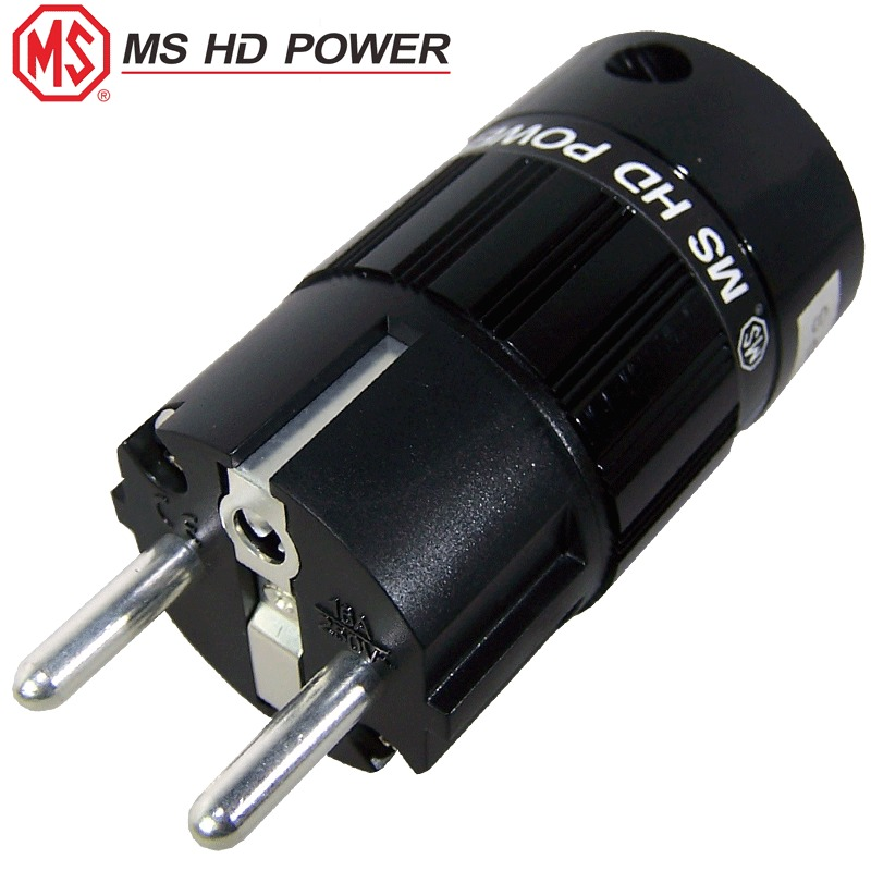 Ms Hd Power Schuko  Eu  Mains Plug  Rhodium Plated