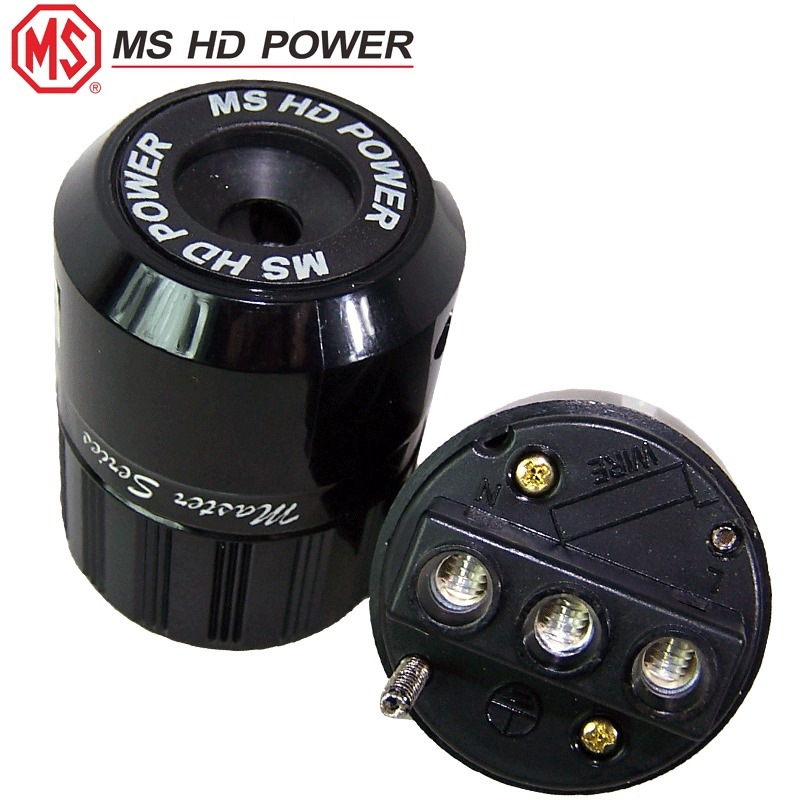 Ms Hd Power Schuko  Eu  Mains Plug  Silver Plated