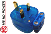 MS HD Power MS328G Blue 13A UK mains plug, Cryo`ed, Gold Plated