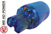 MS HD Power MS9315G Blue IEC Plug, Cryo`ed, Gold Plated
