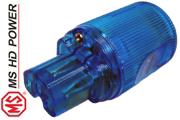MS HD Power MS9315Rh Blue IEC Plug, Cryo`ed, Rhodium Plated