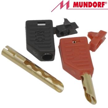 MCONBP Mundorf MConnect Beryllium Copper Banana Plug, gold plated. (1 pair off)