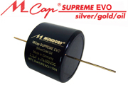 Mundorf MCap Supreme EVO Silver Gold Oil Capacitors