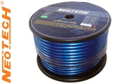 The super Neotech NES-3004 consists of an outer blue PVC insulation, marked with the cable type and direction arrows, the overall diameter is 13mm.