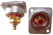 Insulated RCA socket in XLR housing (red only)