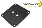 PE-091-602 Dayton Audio binding post plate, black anodised finish, 2 holes