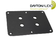 PE-091-612 Dayton Audio Double binding post plate, black anodised finish, 4 holes