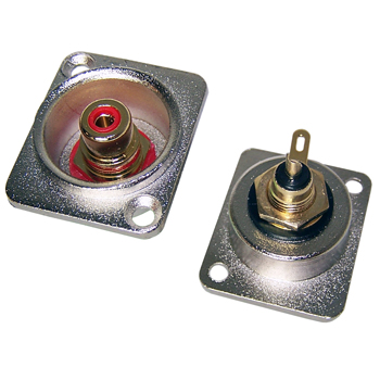 Insulated RCA socket in XLR housing (pair)
