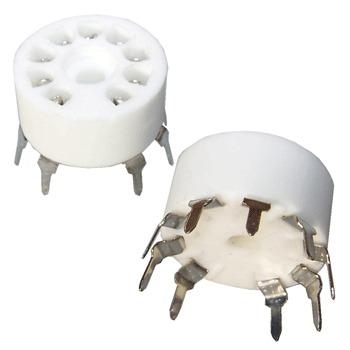 SK9CP18 - Matt white ceramic PCB mount B9A base (pk of 2)